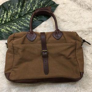 J.CREW laptop case, rugged twill messenger bag